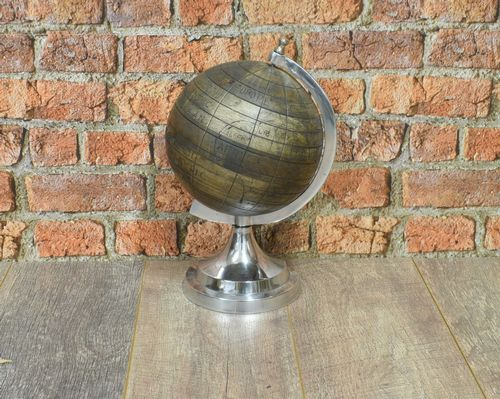 Aluminium Globe with Wood Ball